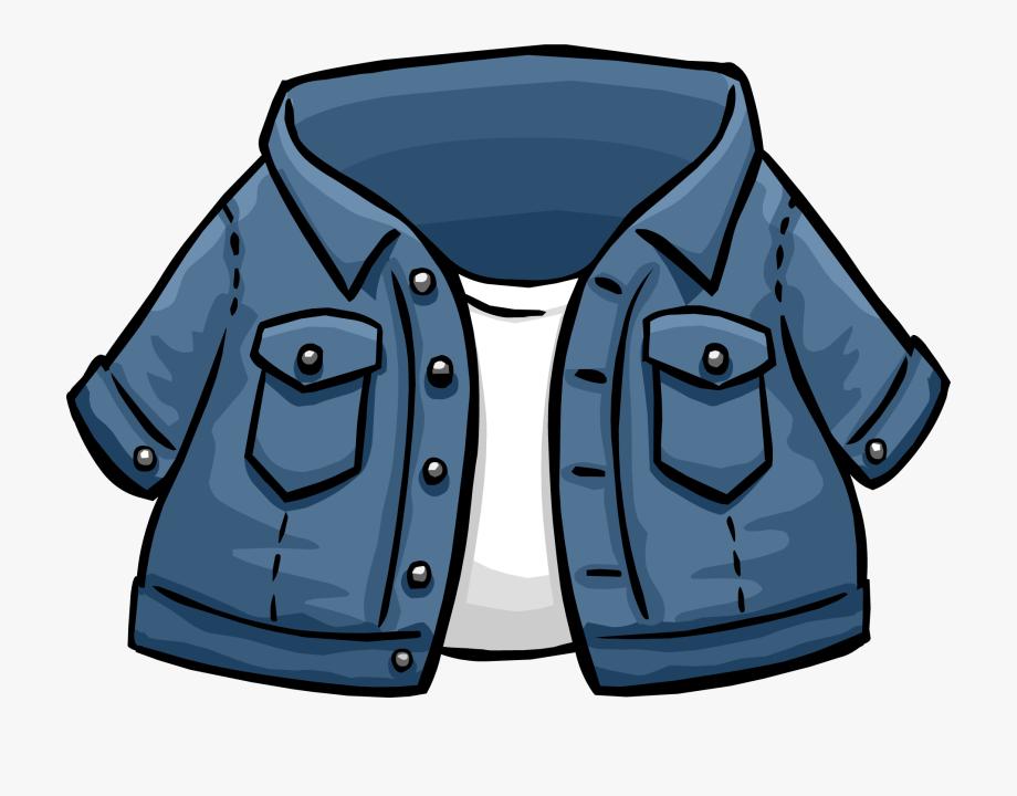 Jacket clipart jeans jacket. Uniform club penguin jean