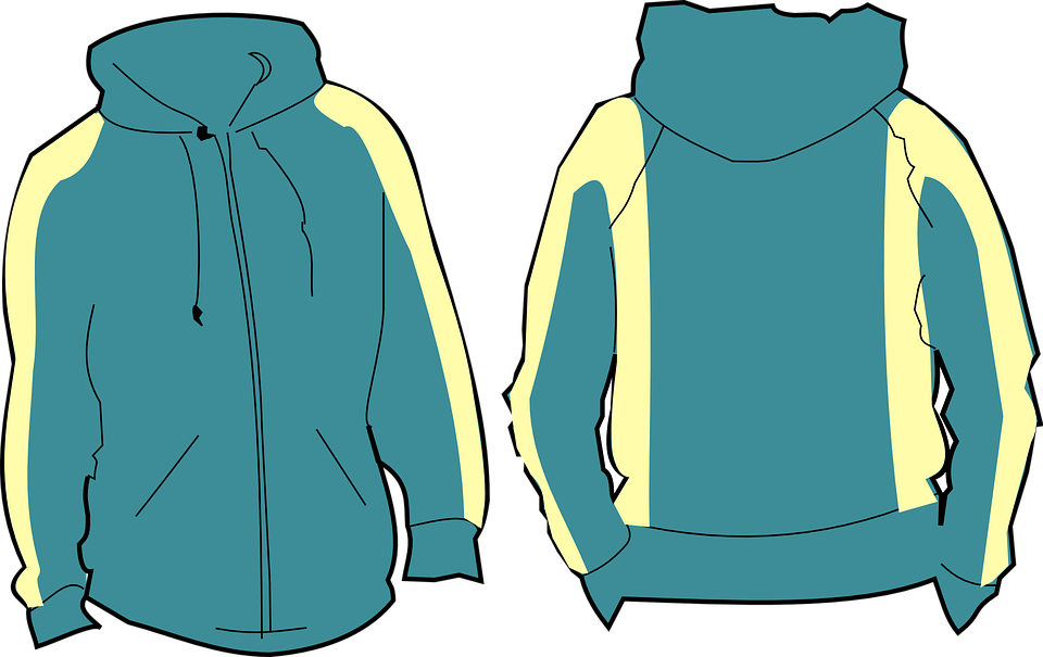 collection of zip. Hoodie clipart jacket outline
