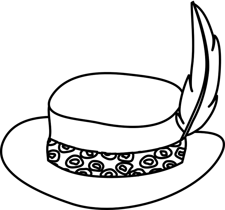 Collection of gold hats. Clipart coffee animasi