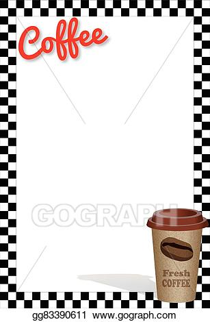 Clipart coffee banner. Eps vector hot stock