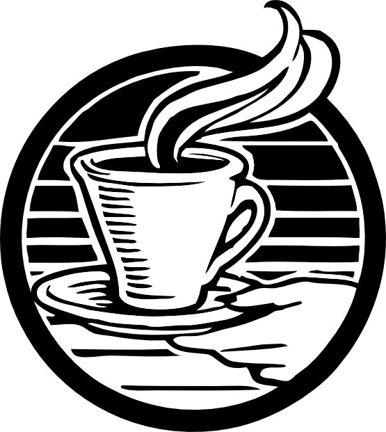 Clipart coffee black and white. Clipartist net clip art