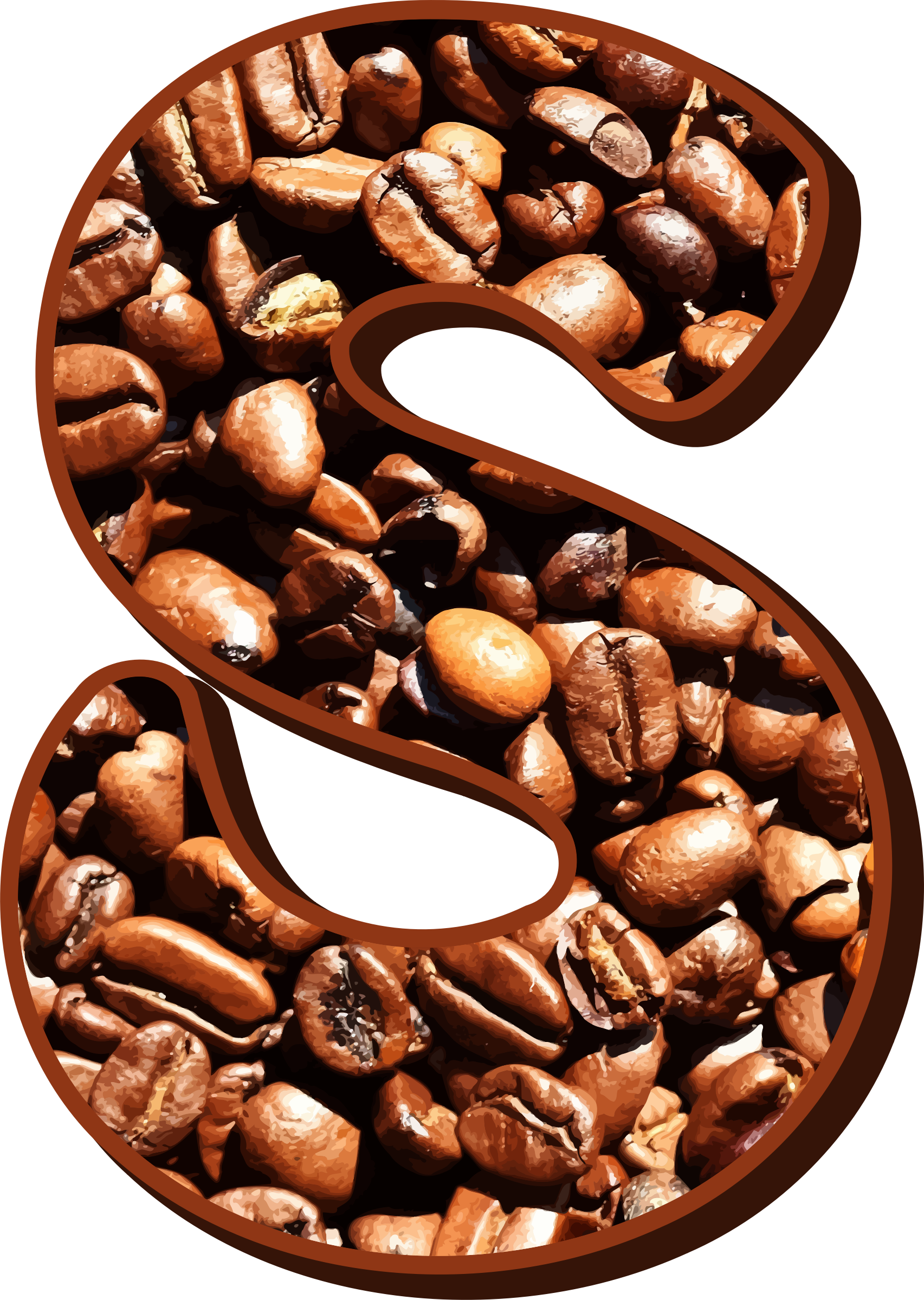 Beans typography s big. Clipart coffee blue