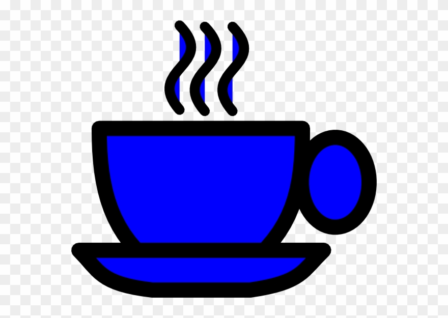 Cup clip art png. Coffee clipart blue
