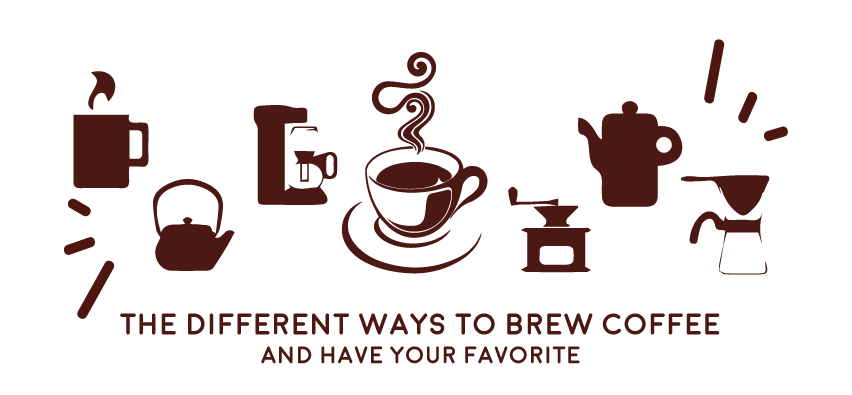 Clipart coffee brewed coffee. The different ways to