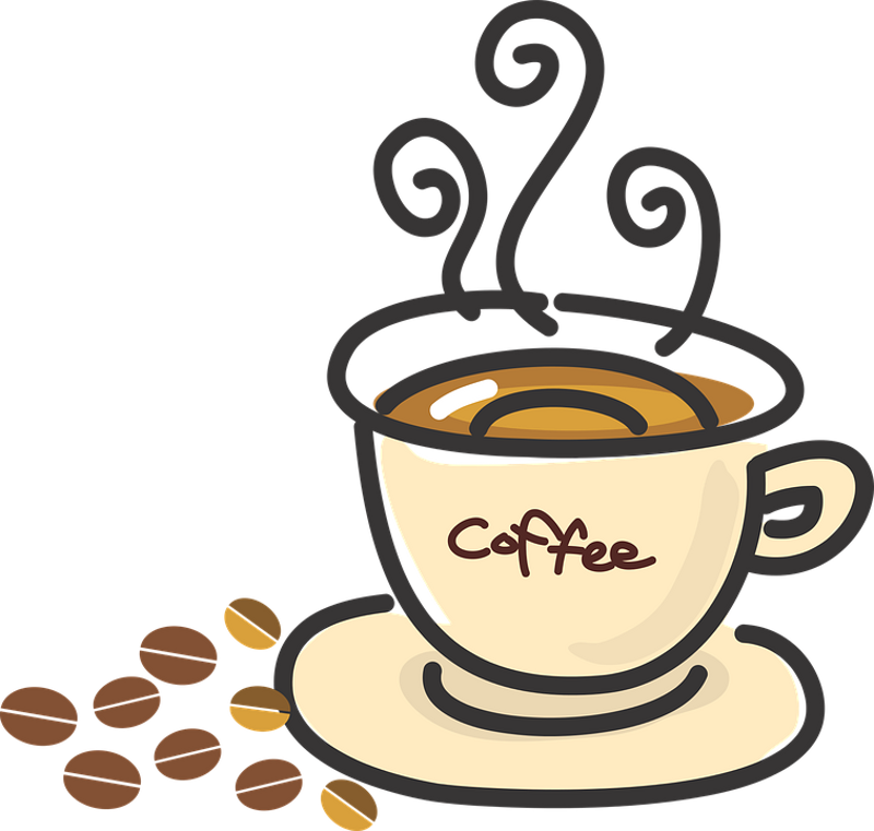 Five benefits of drinking. Clipart coffee caffeine