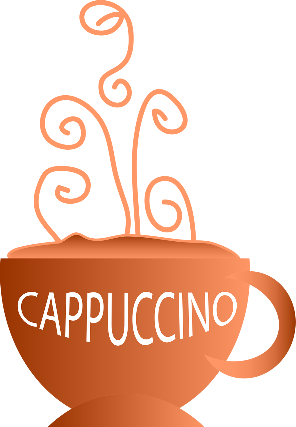 Free stock photo illustration. Clipart coffee cappuccino