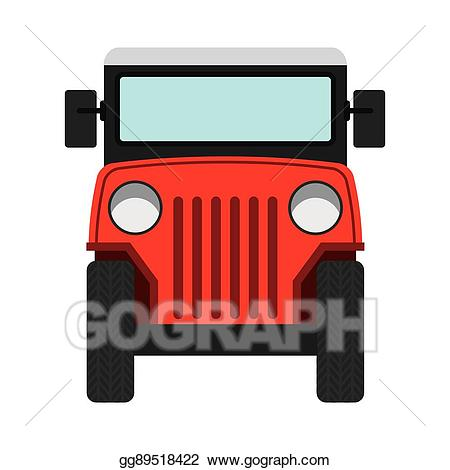 Clipart coffee car. Eps vector jeep colombian
