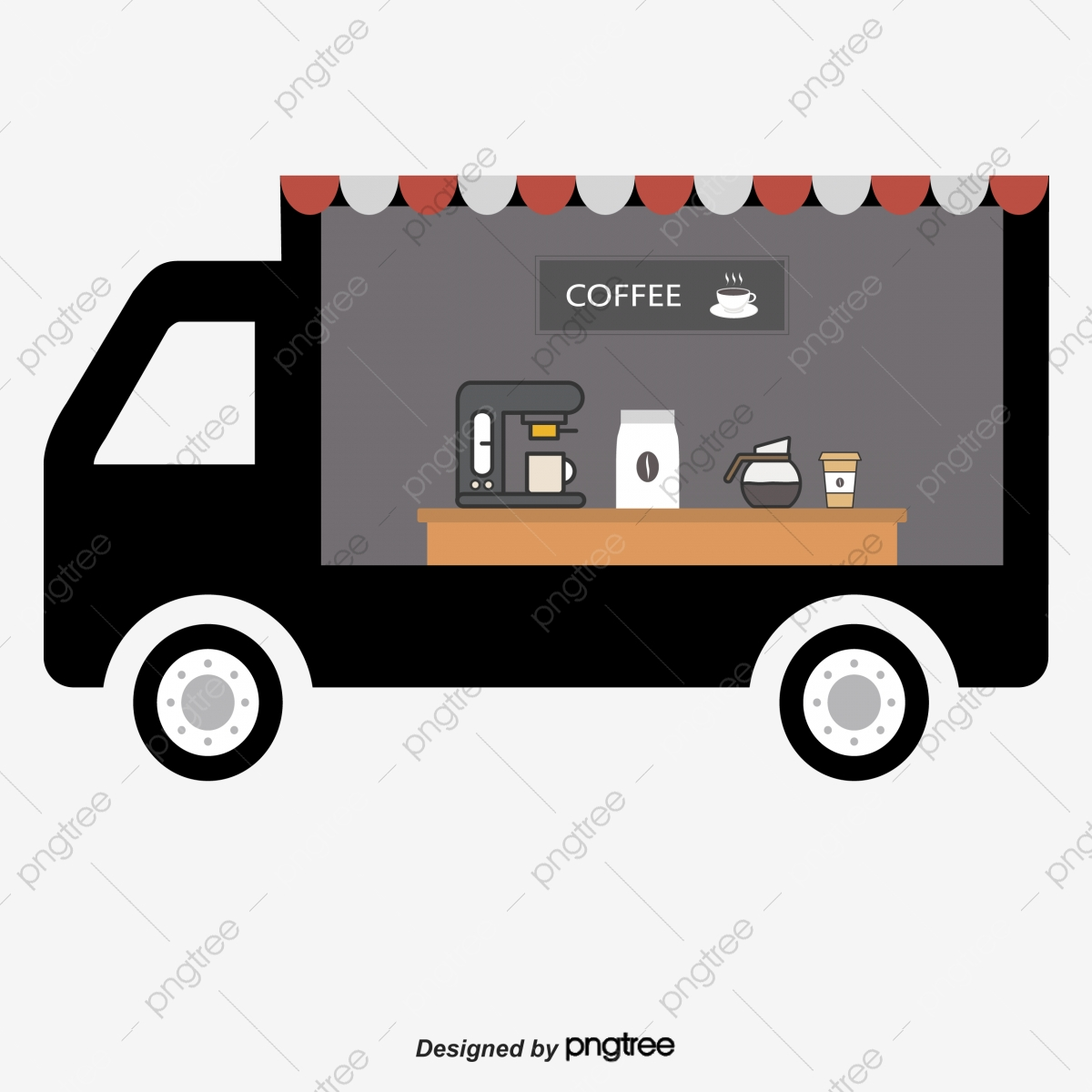Fast food vector . Clipart coffee car