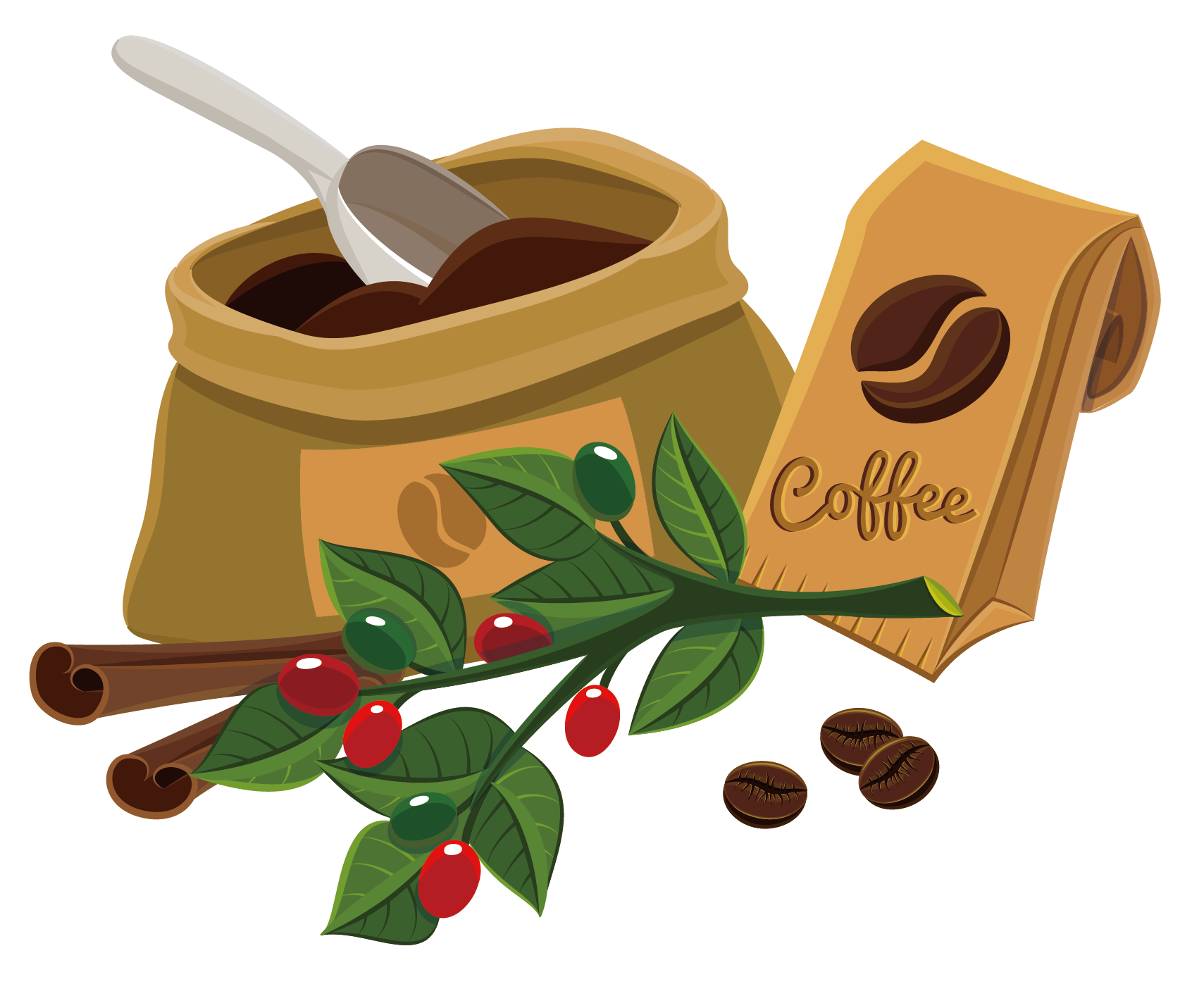 Bean cafe clip art. Clipart coffee coffee powder