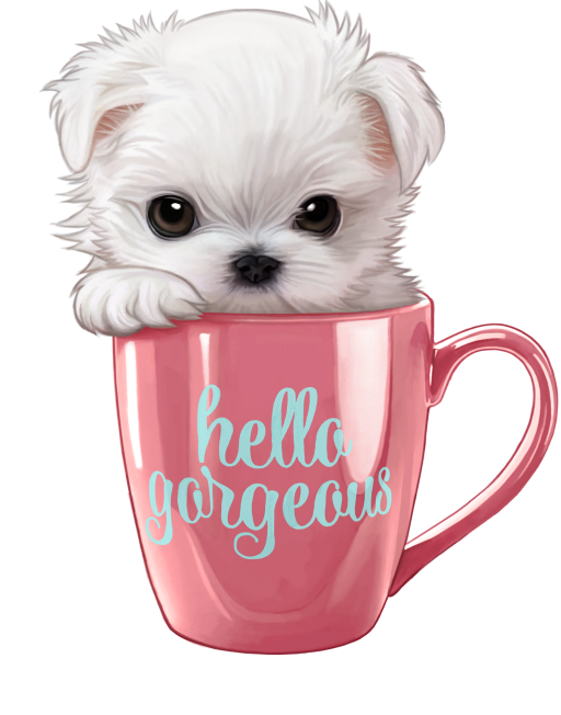 Pin by grace jian. Clipart dog coffee