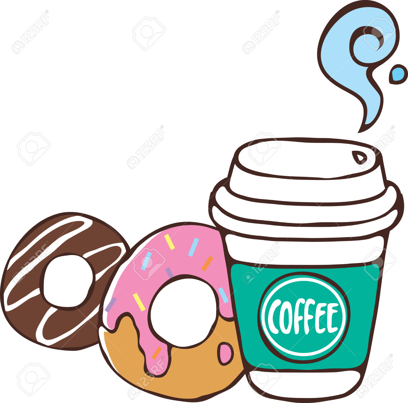 Donut clipart coffee.  and donuts clipartlook