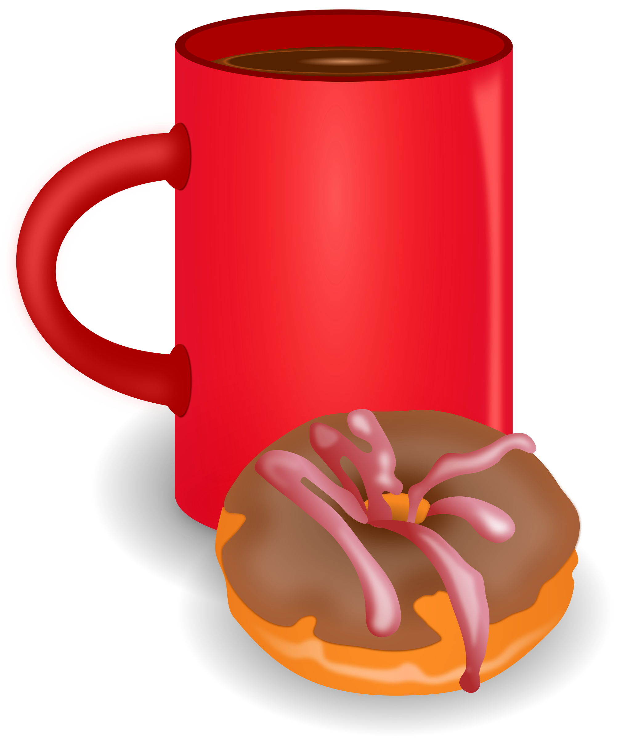 Clipart coffee donut. And doughnut big image