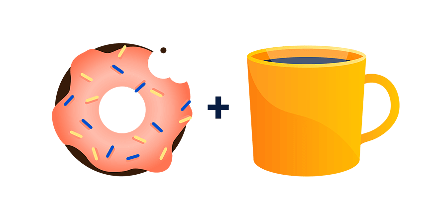 tips before and. Donut clipart coffee