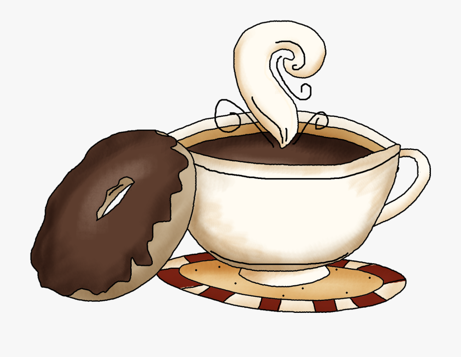 Donut clipart coffee. And donuts quotes