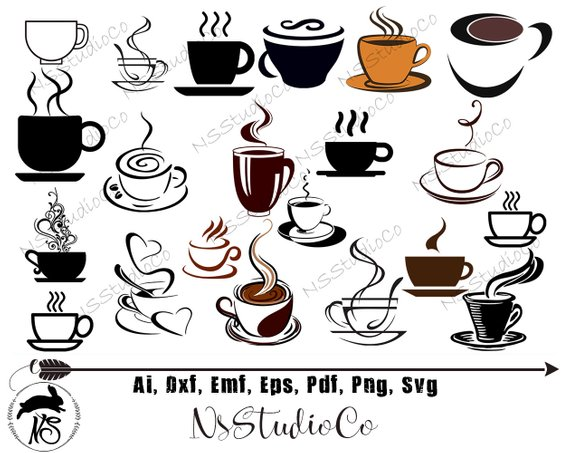 Cup svg vector files. Clipart coffee file