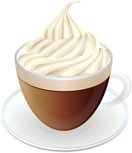 Clipart coffee food. With cream transparent png