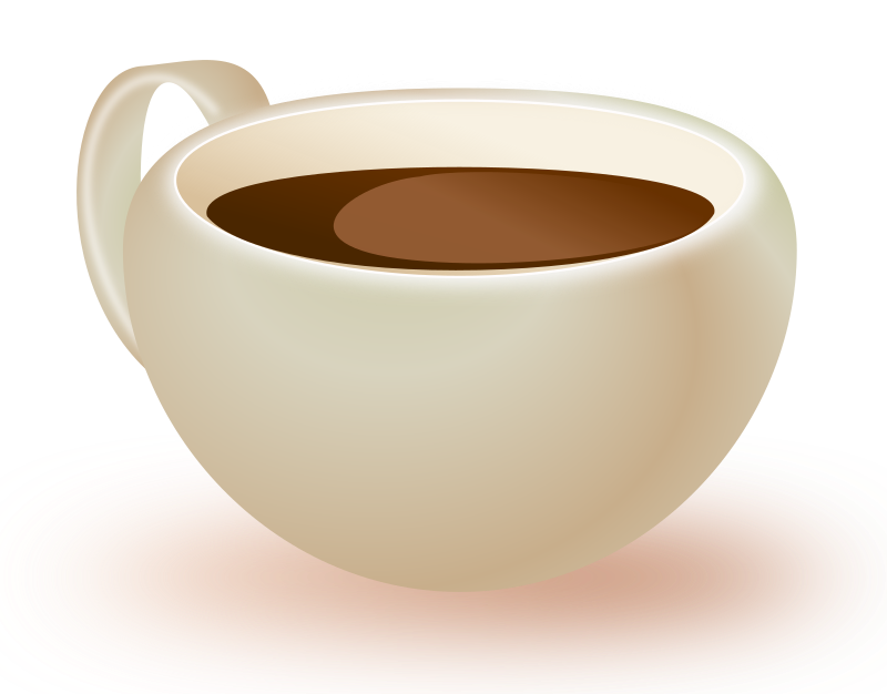 Cup of medium image. Clipart coffee food