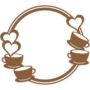 Coffee clipart frame. Silhouette design store love