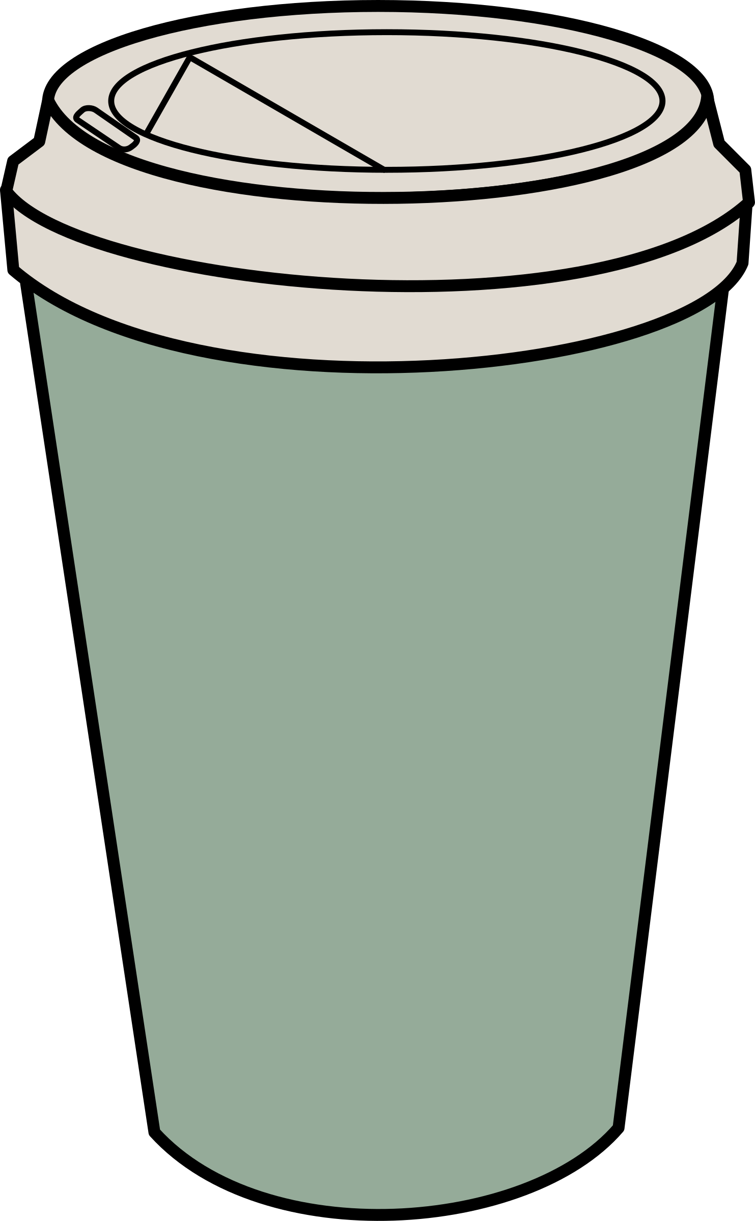Clipart cup tumbler. Coffee to go big