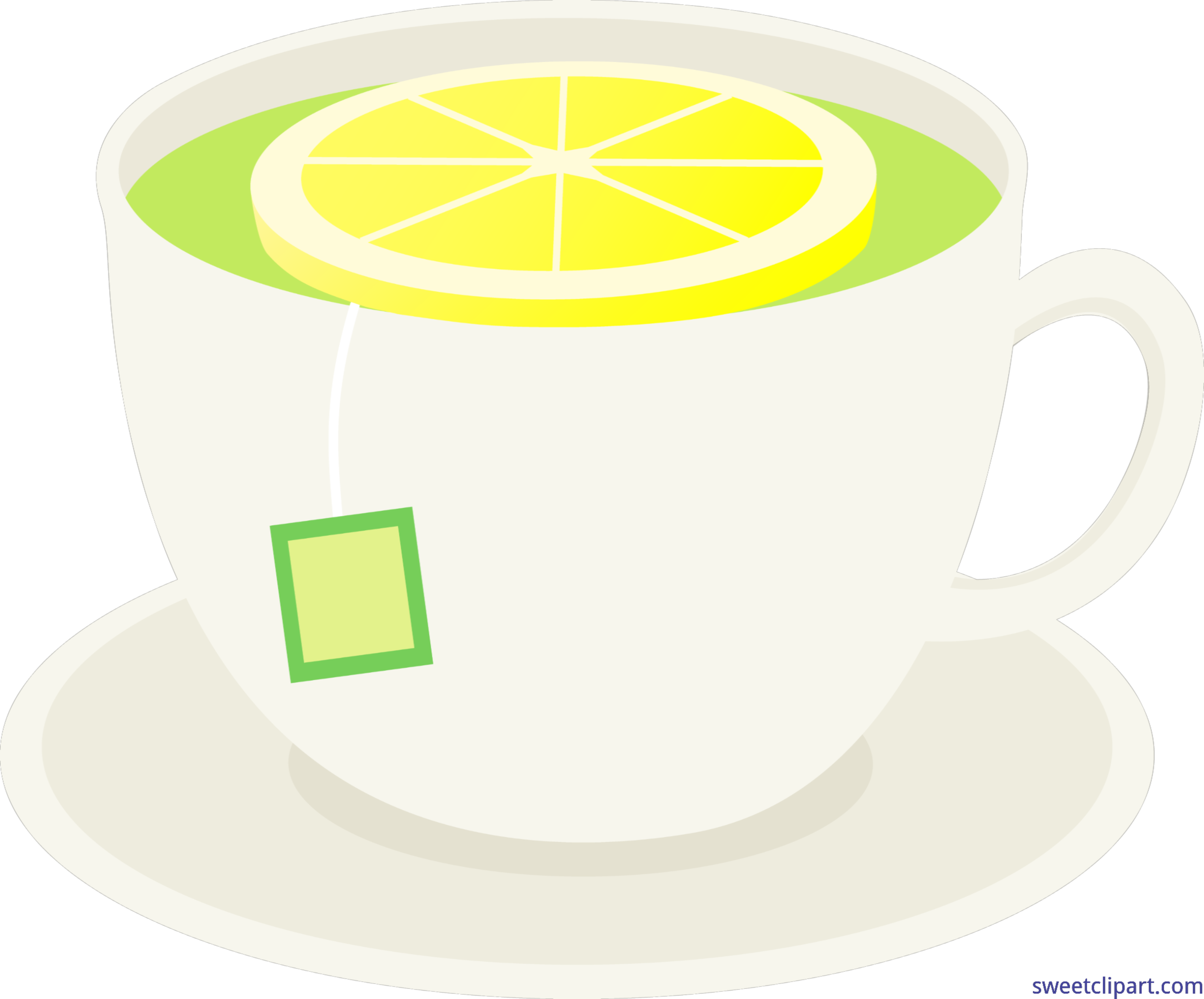 Cup of green with. Tea clipart line art