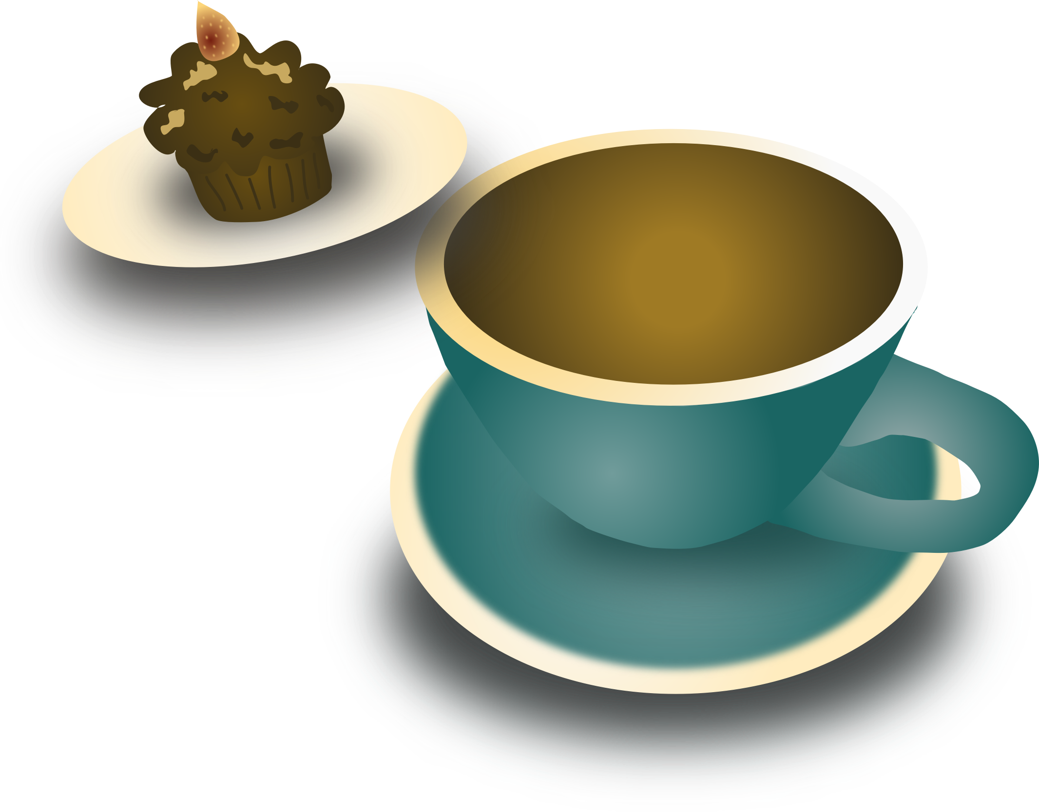 Clipart coffee green. Free and cupcake by