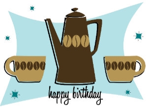 Clipart coffee happy birthday. Lovers cards zazzle