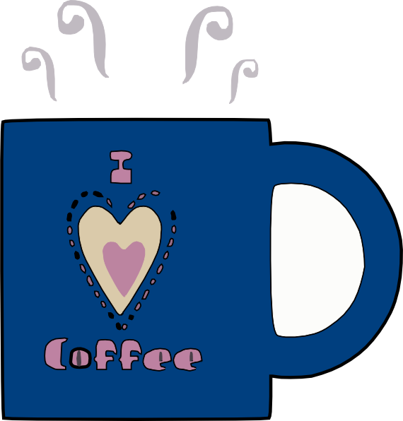 I love hot clip. Clipart coffee heart