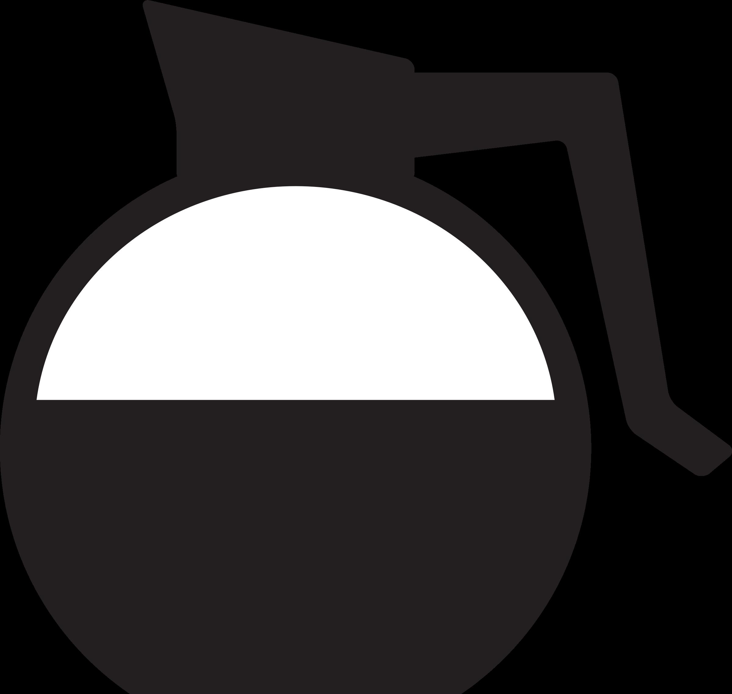 Clipart coffee icon. Kitchen drip carafe big