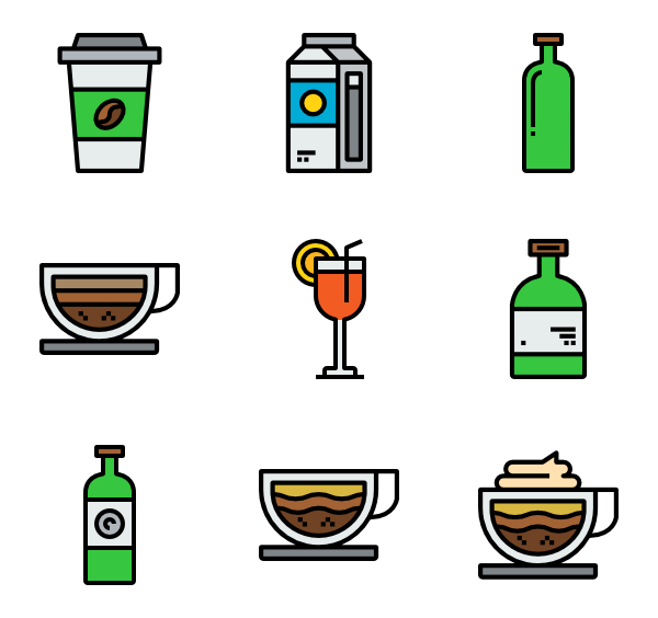 Clipart coffee icon. Cup icons free vector