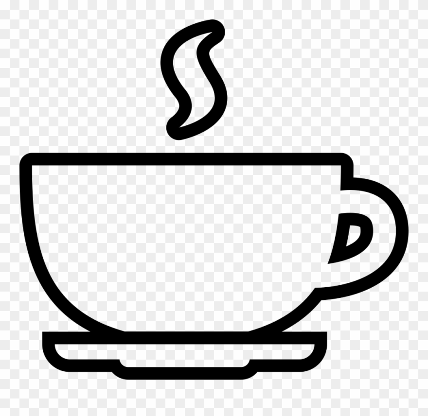 Cup outline svg png. Coffee clipart icon
