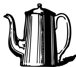 Clipart coffee jug. Pot panda free images