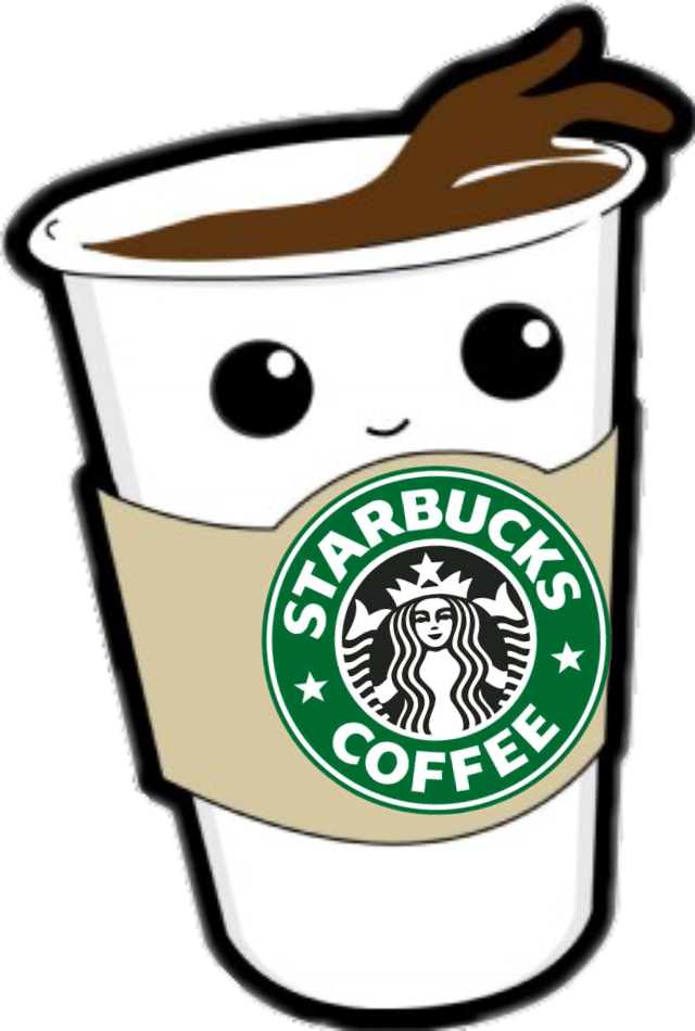 Kawaiistarbucks sticker by veda. Clipart coffee kawaii