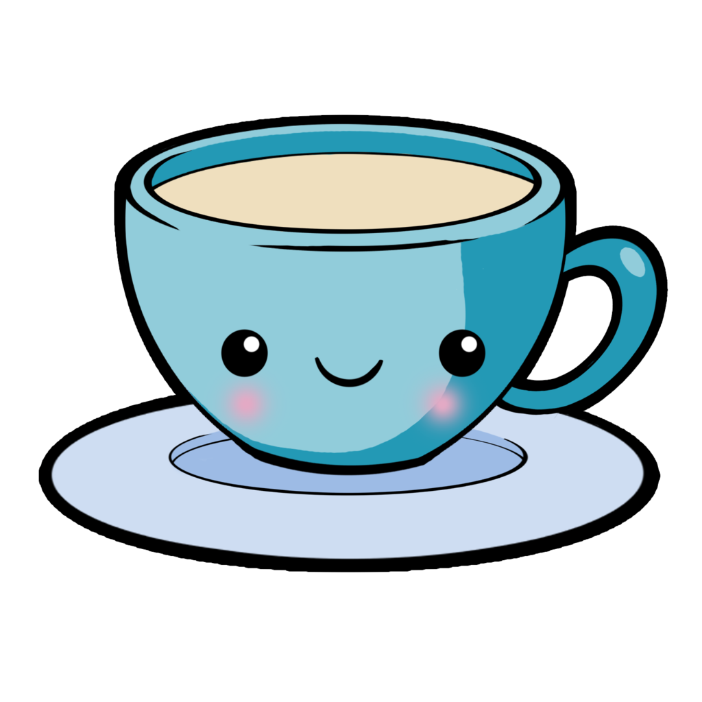 Cup free plastic drink. Clipart coffee kawaii