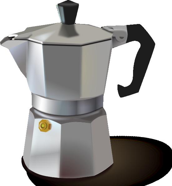 Clipart coffee kettle. Italian maker clip art