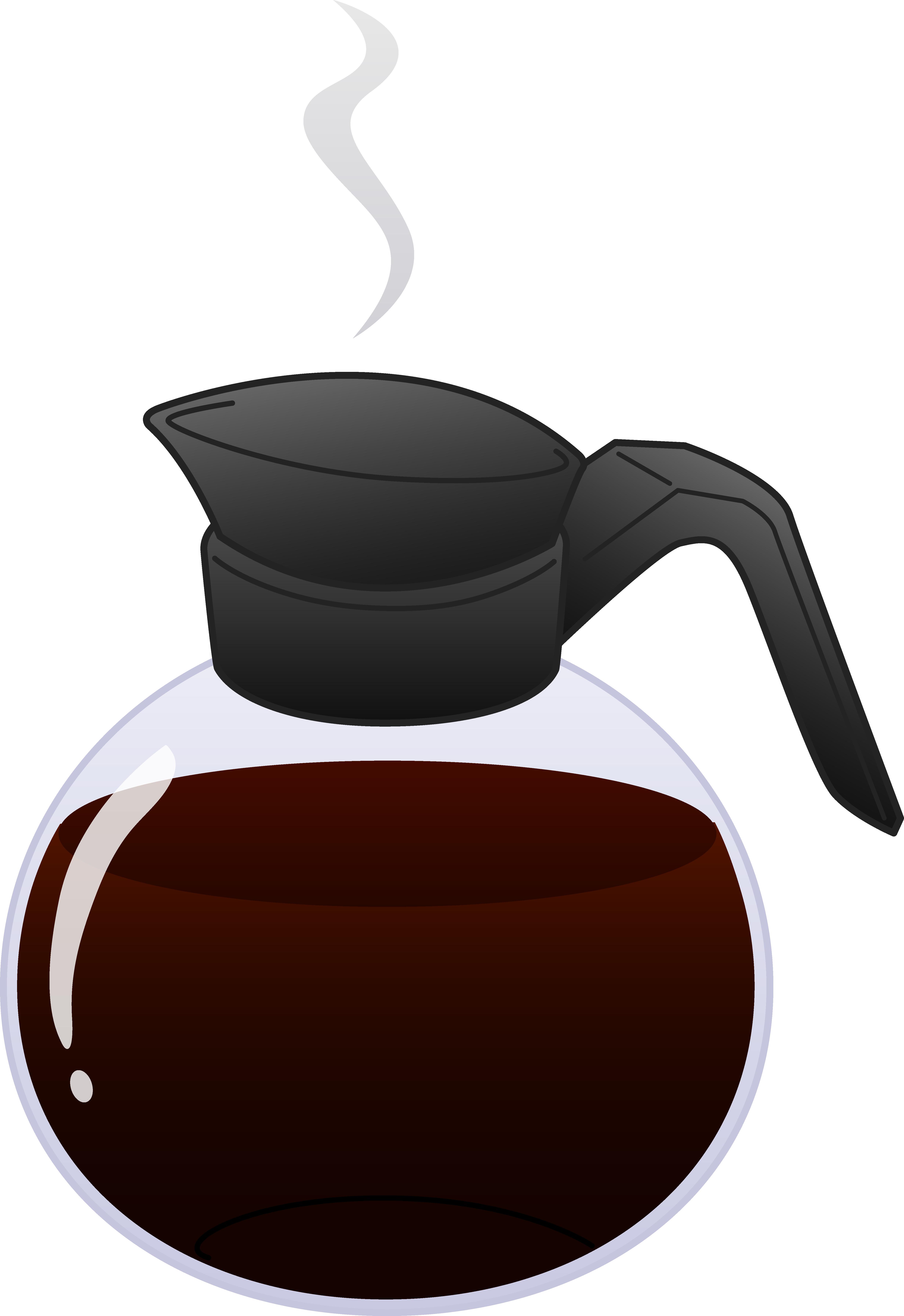 Clipart coffee line art. Free pot