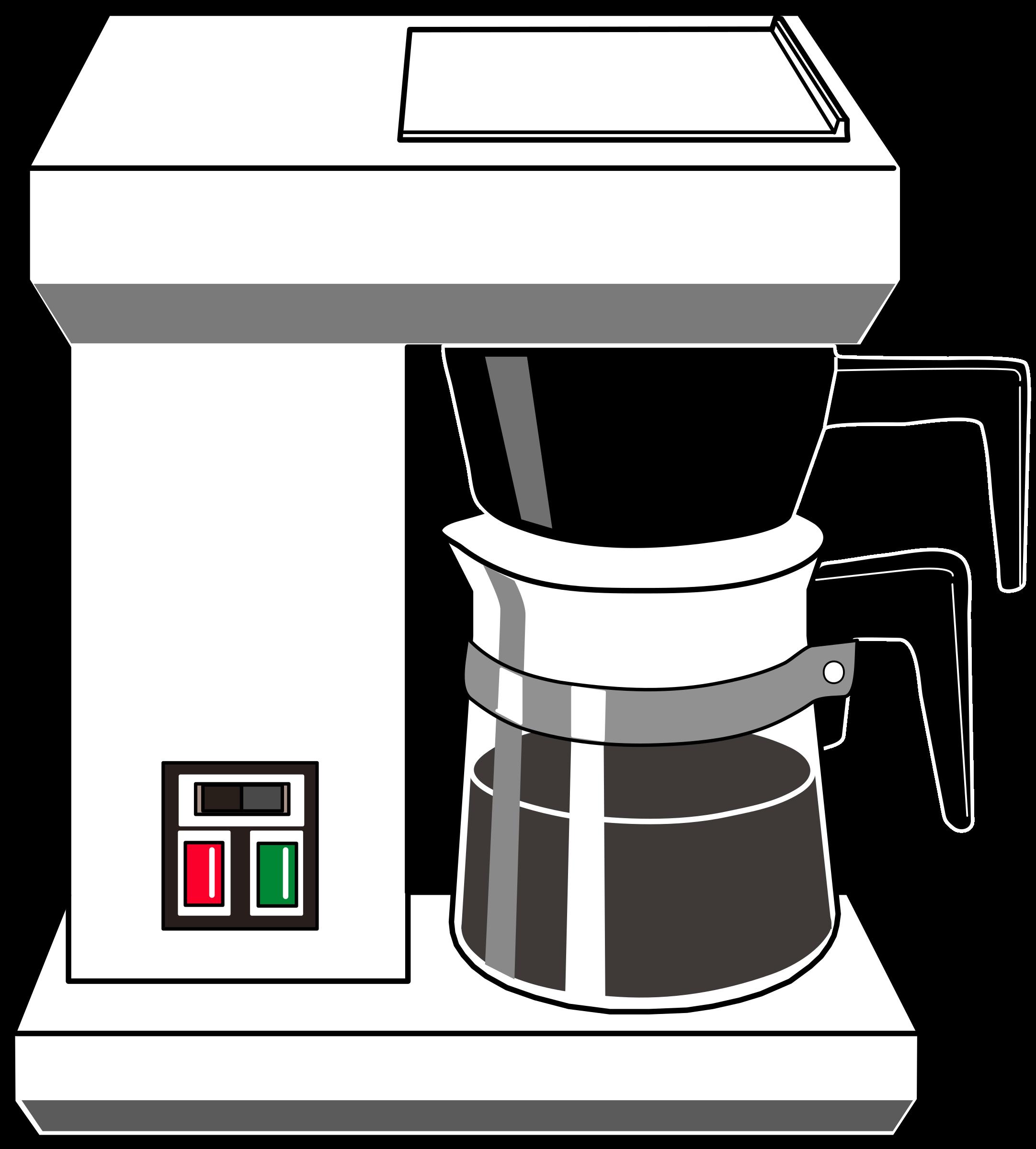 Clipart coffee line art. Drip maker big image