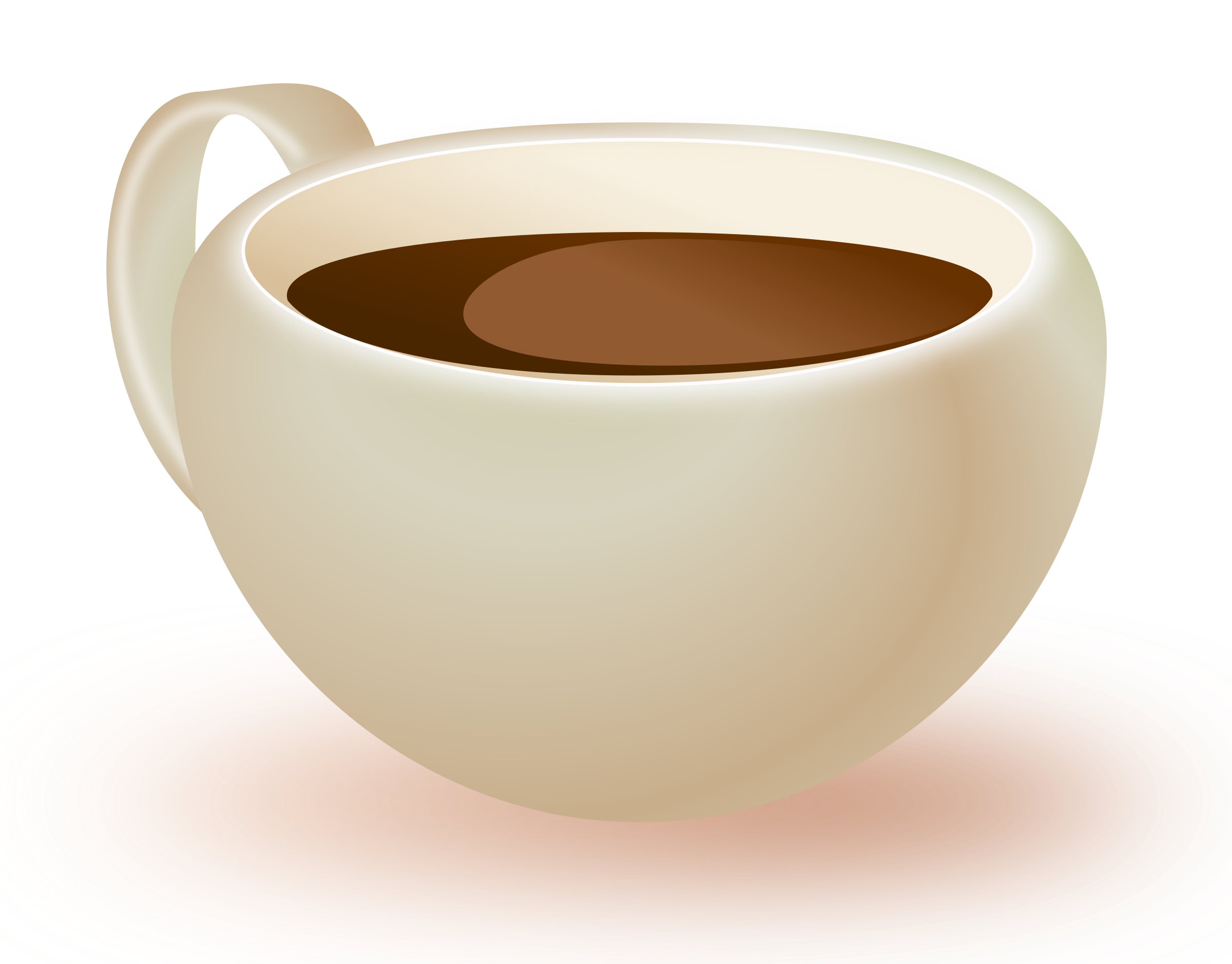 Cup of big image. Clipart coffee liquid