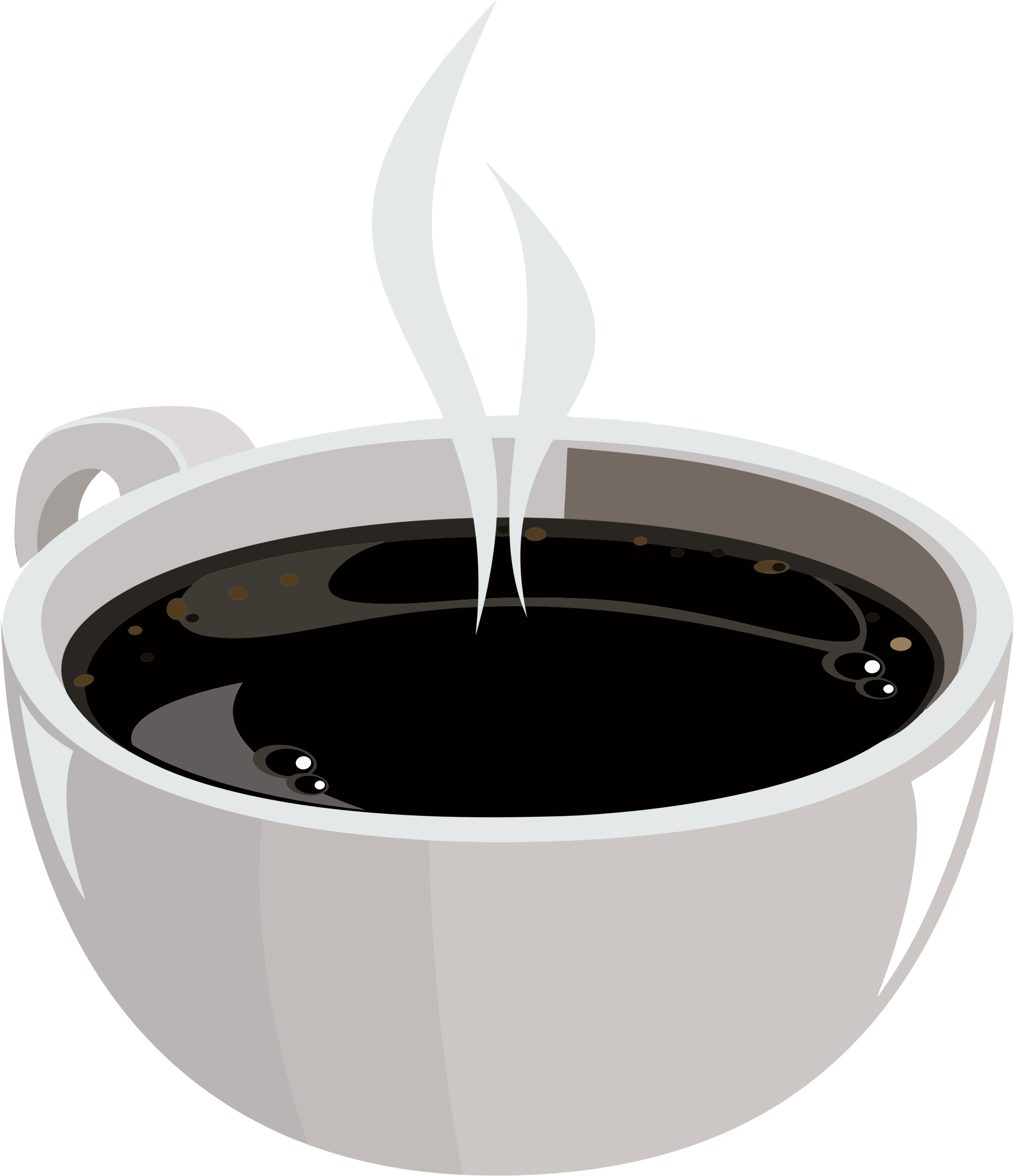 Clipart coffee liquid. Hot cup of big