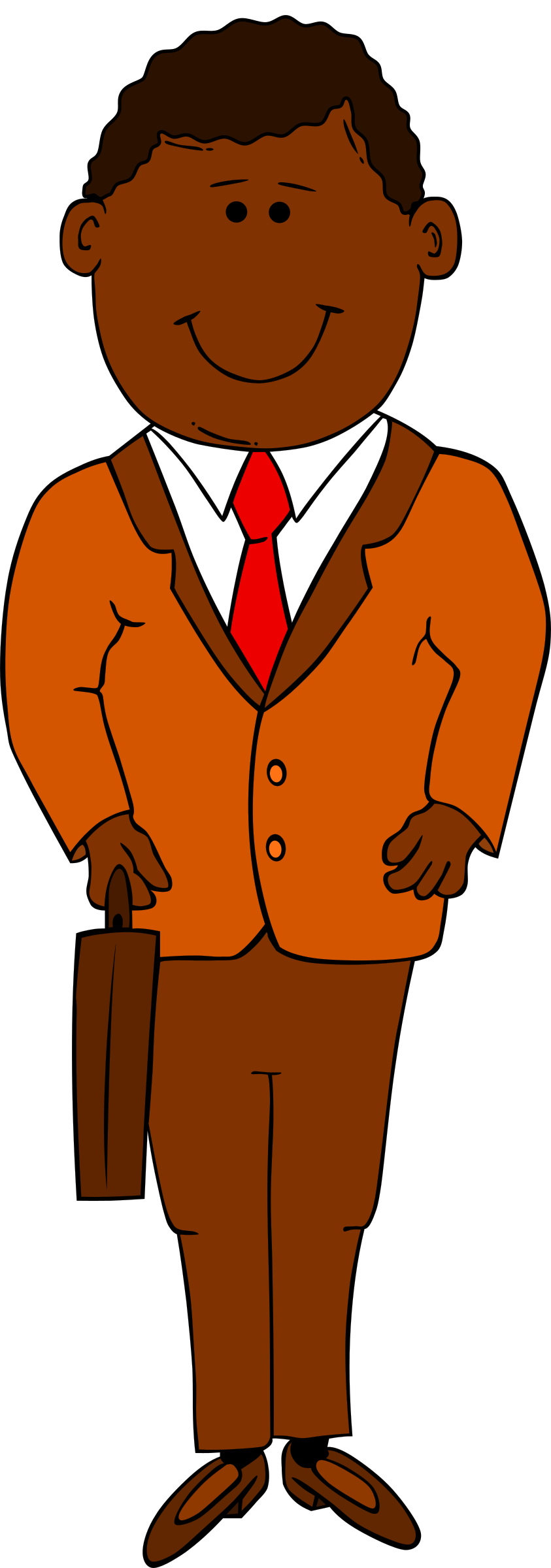 Make clipart coffee. Man in suit who