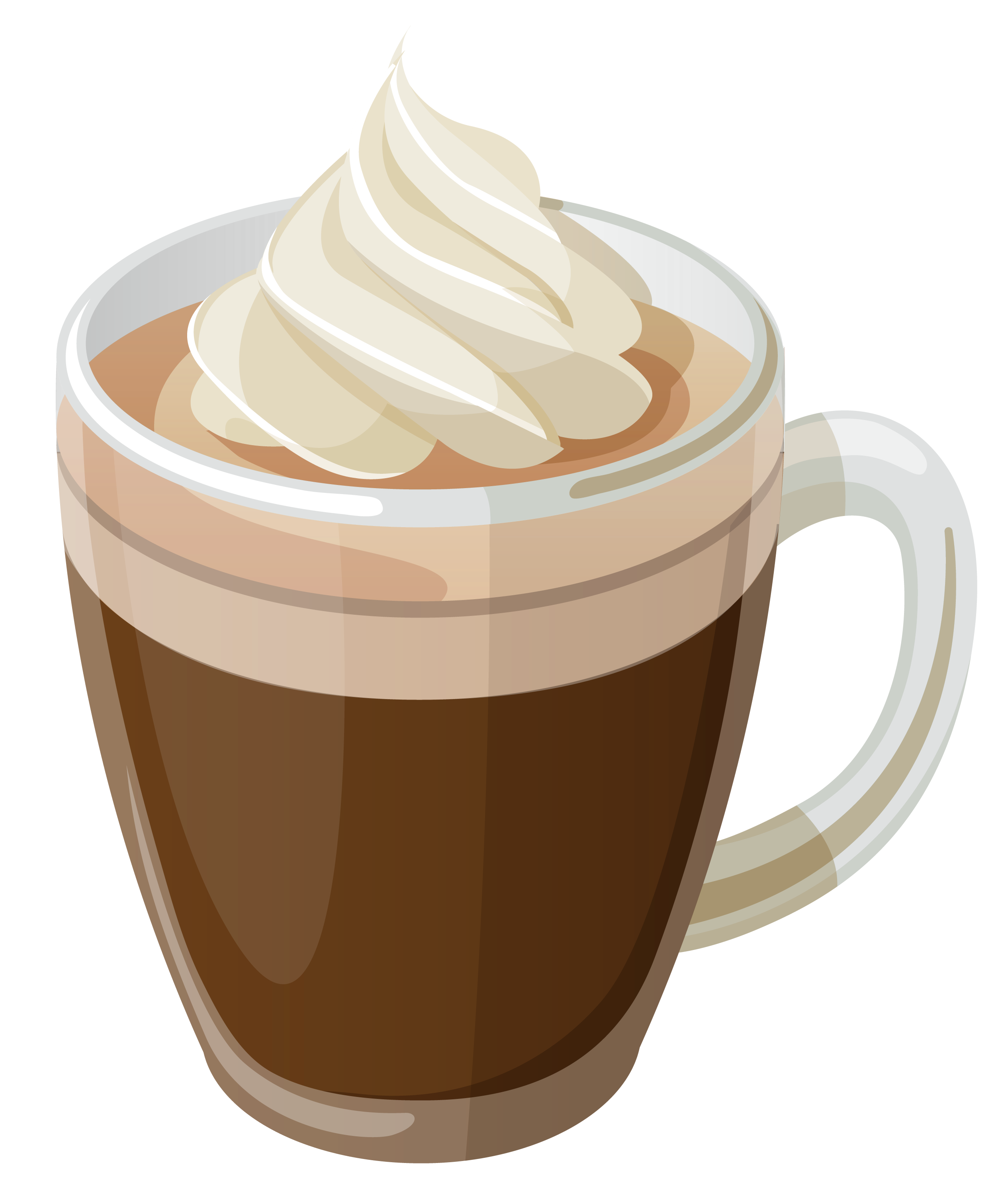 Coffee with cream png. Yogurt clipart cute