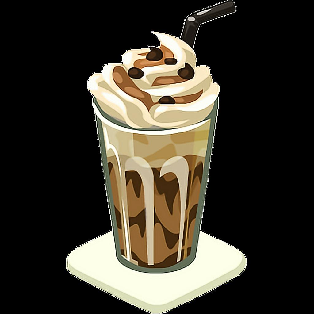 Frappe ftestickers freetoedit. Clipart coffee milkshake