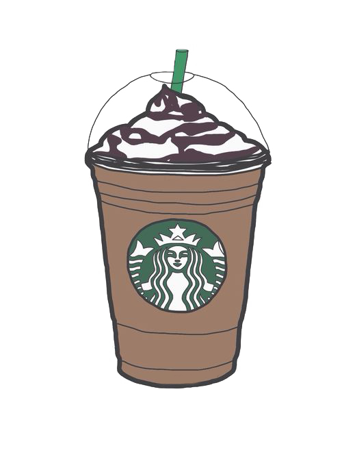 Milkshake clipart hand drawn. Coffee latte starbucks frappuccino