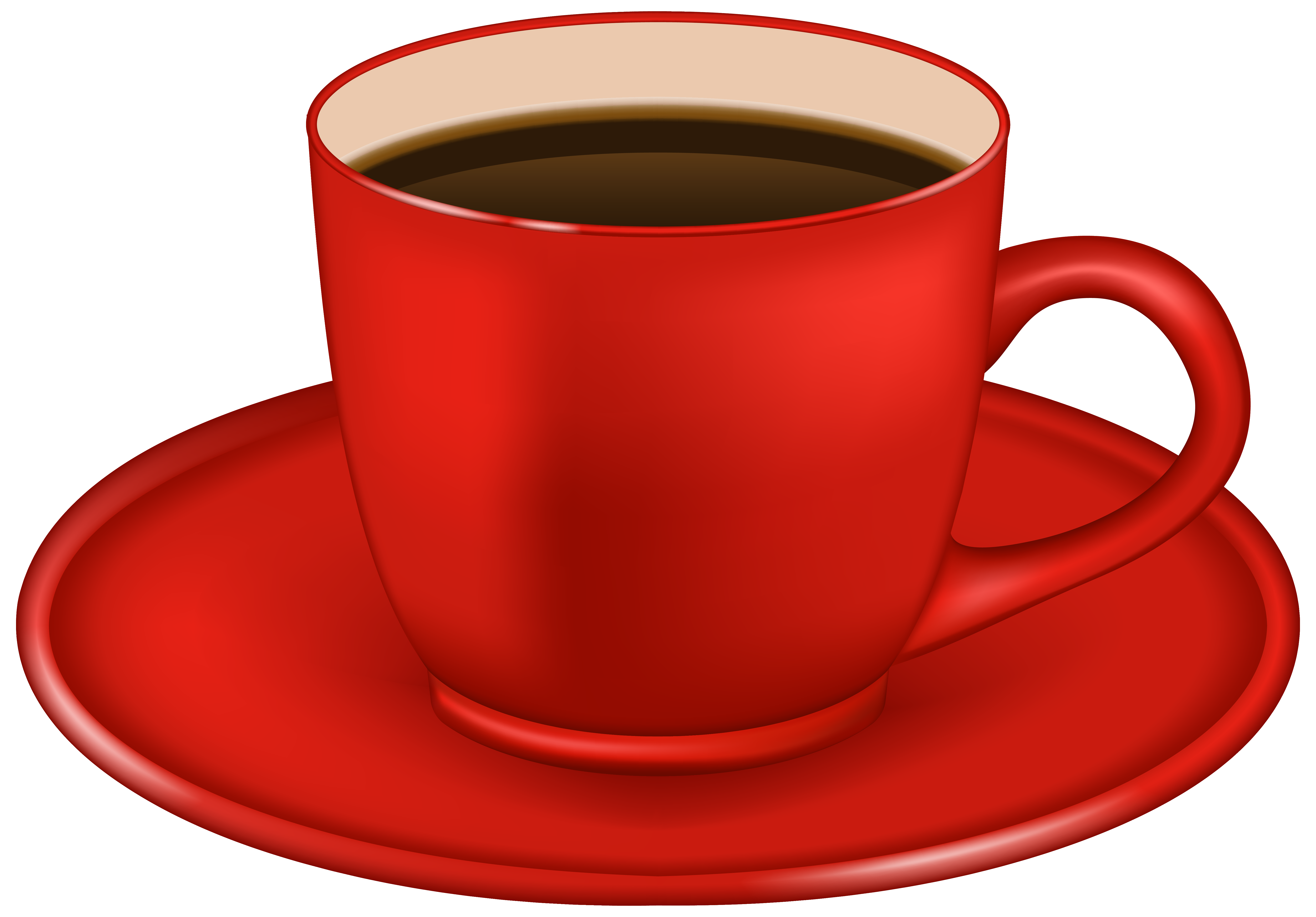 Red coffee png image. Clipart hearts tea cup