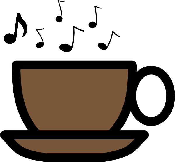 Musical soup cup clip. Clipart coffee music