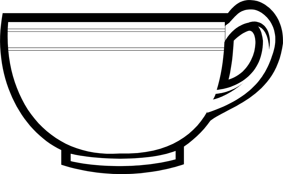 Cup line drawing at. Clipart coffee outline