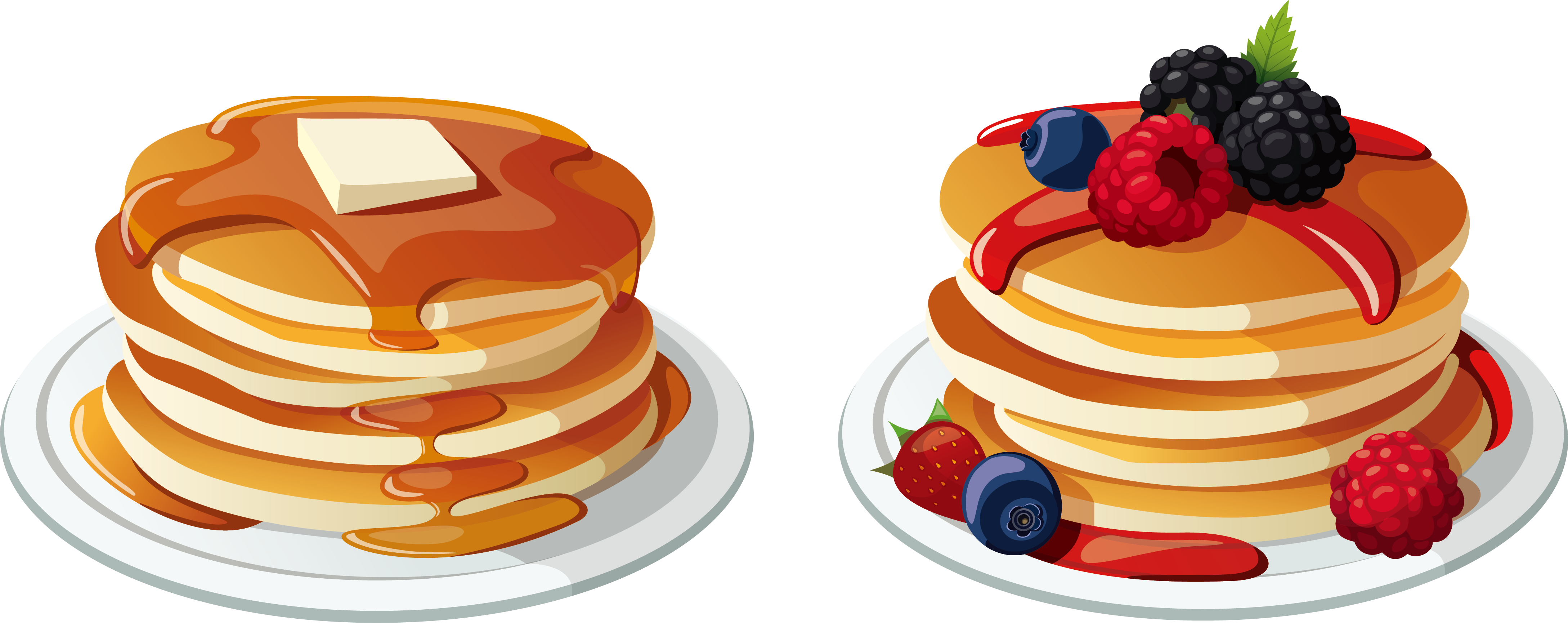 Clipart coffee pancake. Pancakes breakfest frames illustrations