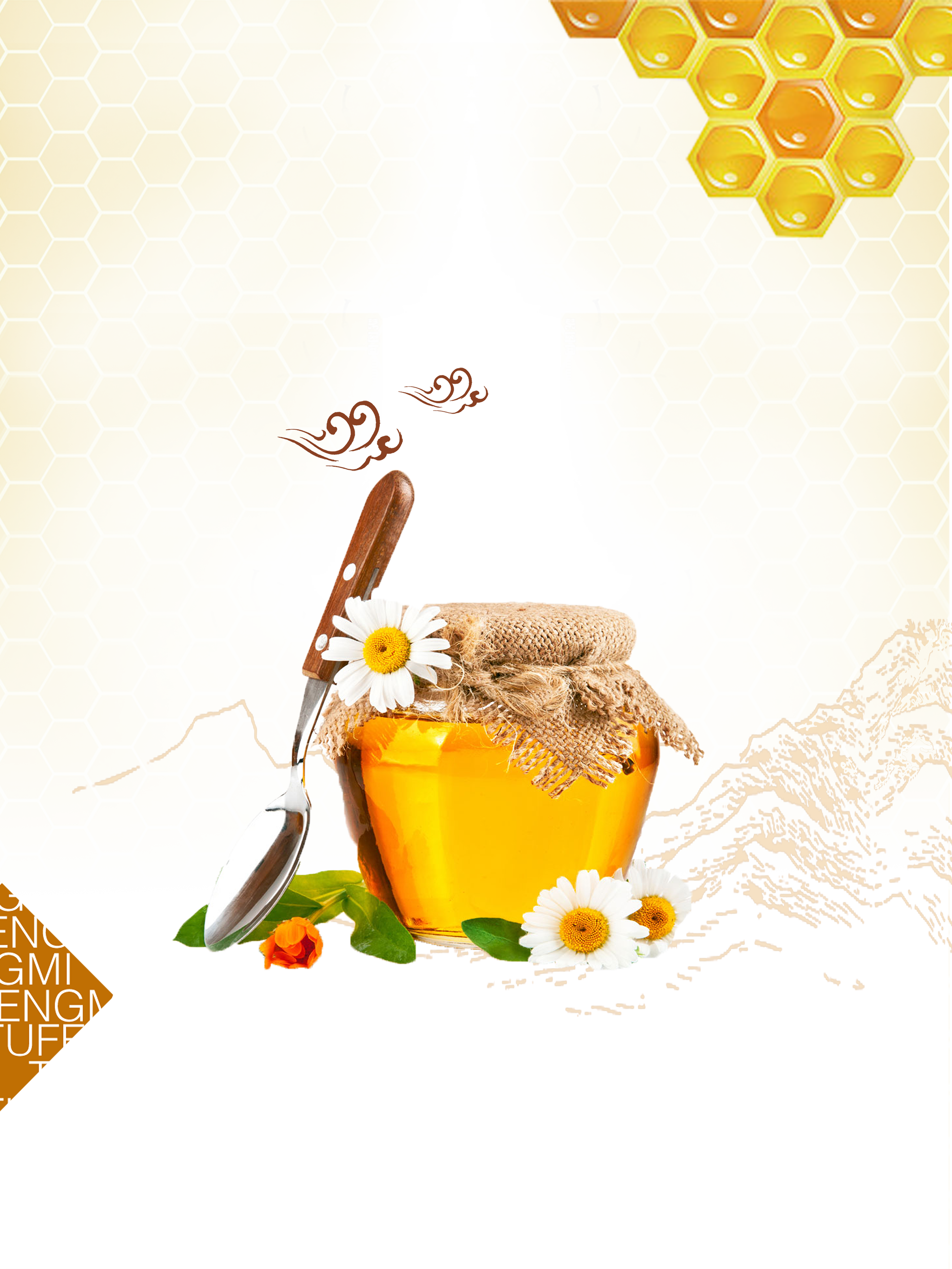 Marmalade honey bee clip. Clipart coffee pancake