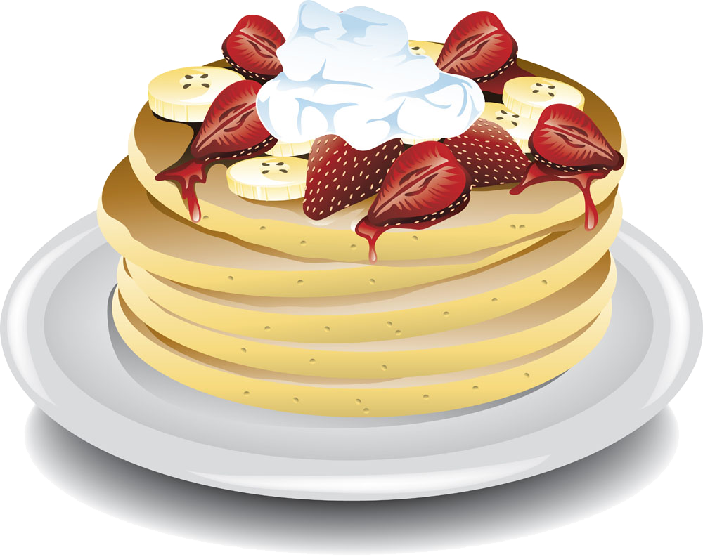 Clipart coffee pancake. Ice cream banana pancakes
