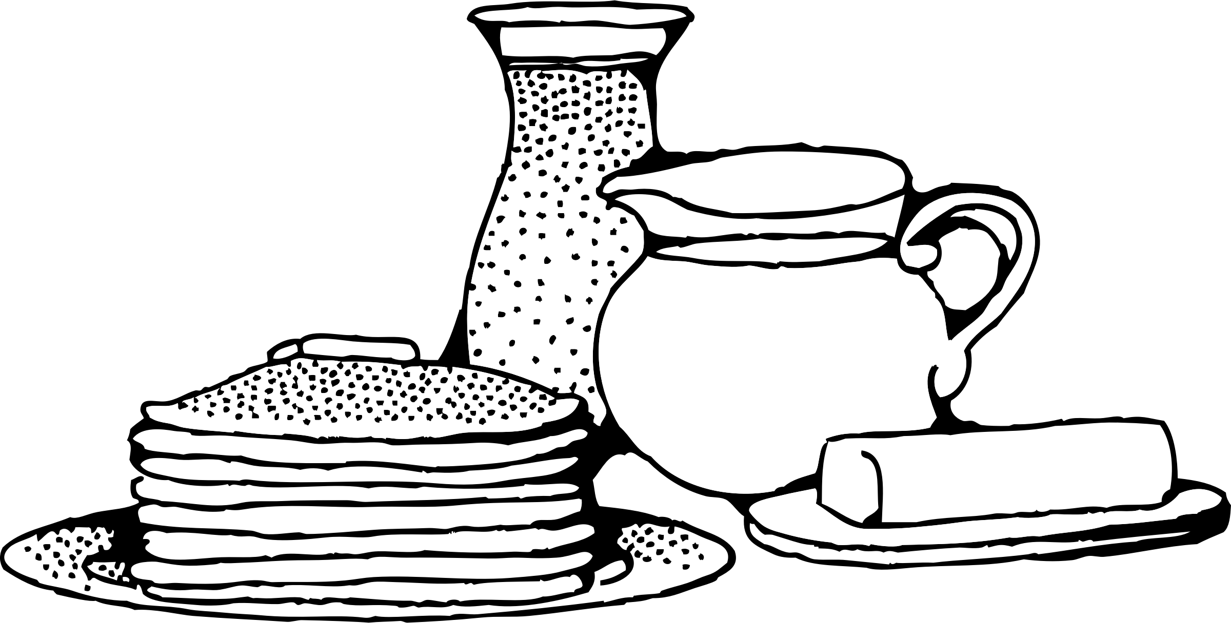 Shrove tuesday supper visit. Clipart coffee pancake