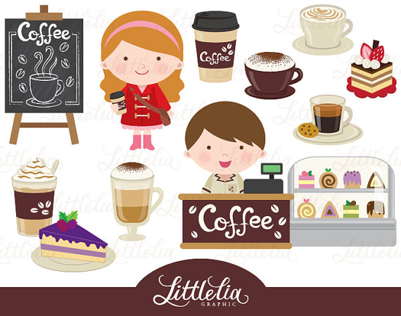 Shop cute . Clipart coffee party